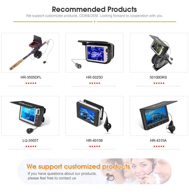 4.3 Inch Warna Monitor 15 Meter Kabel Kamera Bawah Air Memancing