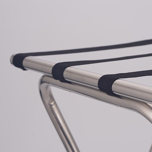 Modern Metal Stainless Steel Retractable Hotel Folding Luggage Rack Carrier