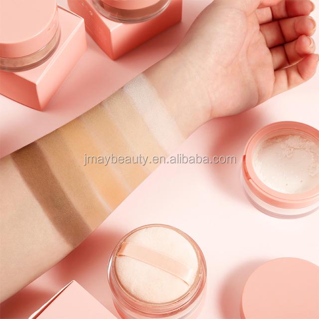 Grosir Private Label Disesuaikan Wadah Warna 12 Warna Minyak Kontrol Mewah Longgar Pengaturan Bubuk