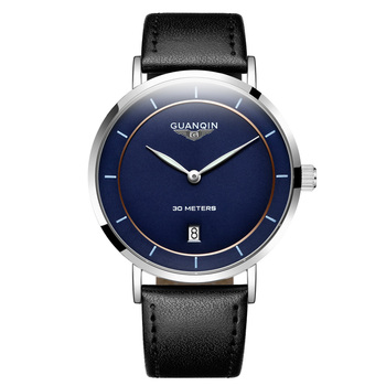 GUANQIN Fashion Smart Men Watch Quartz WristWatch with calendar