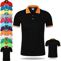 Navy blue cotton tshirt Custom Mens Golf Dry Fit Polo Shirts Shirt With Embroidery Logo