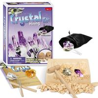 Mega Gemstone Dig Kits Excavate 5 Real Gems Crystal Cluster Rock Mining Kits Mineralogy Geology Science STEM Gift for Kids