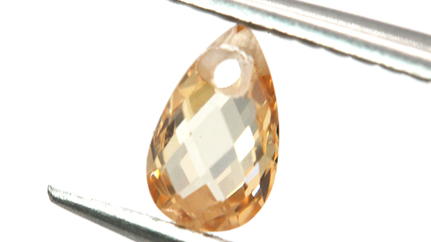 Wholesale Pear Shape Double Checker Cut Champagne Synthetic Cubic Zirconia