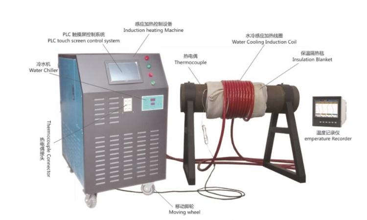 60KW oil pipe preheat machine heat treatment control equipment review #1013 4