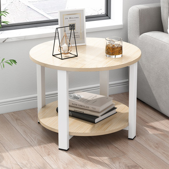 AliGan Bedside small round table Small coffee table simple modern creativity Sofa side cabinet corner