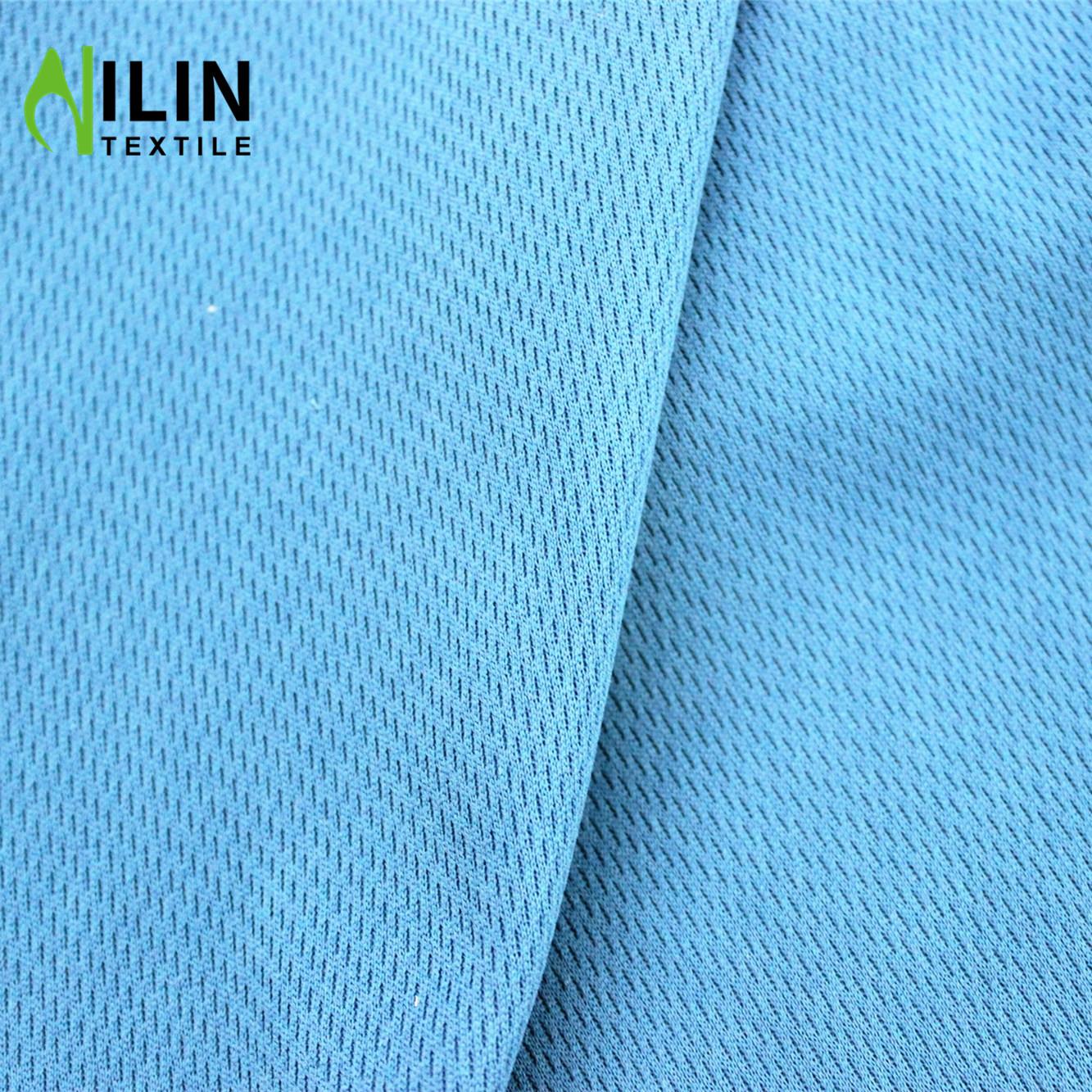 Dri fit 100% polyester fabric bird eye mesh fabric for sportswear