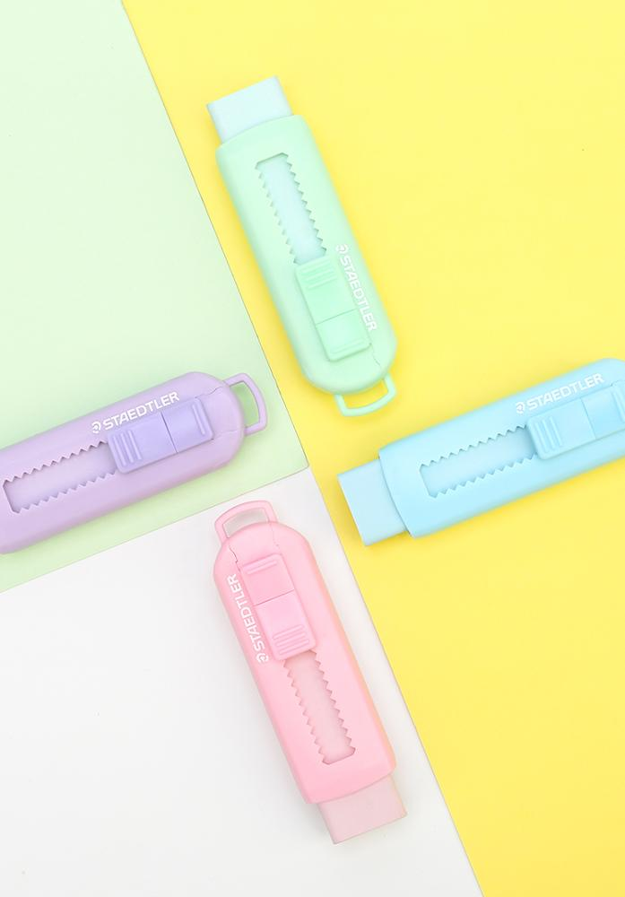 STAEDTLER Macaron push pull eraser clean mini portable fruit color cute office student stationery supplies portable