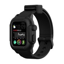 Водонепроницаемый спортивный чехол для Apple Watch серии 4 3 2 силиконовый ремешок 44 мм 42 мм 40 мм ремешок ударопрочный каркас(Китай)