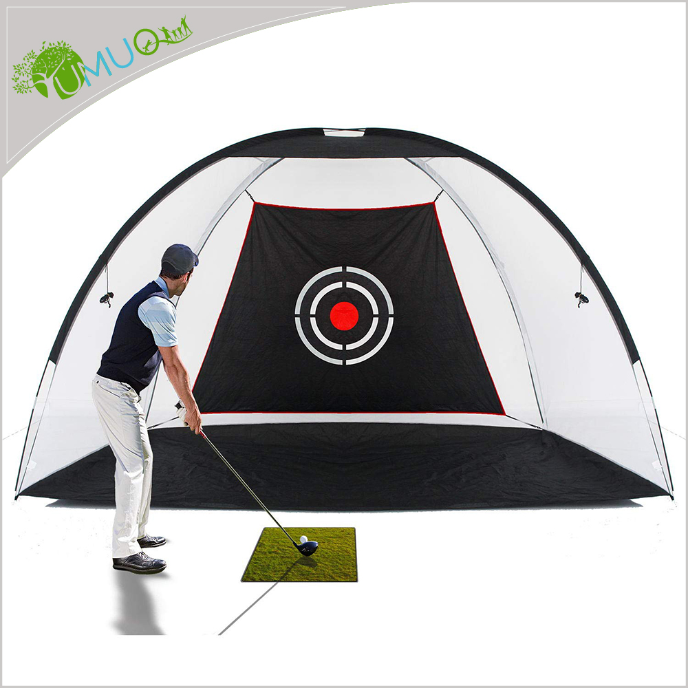 YumuQ 10 FEET Backyard Golf Hitting Training Nets, Golf Training Aids for Outdoor and Indoor Golf Practice