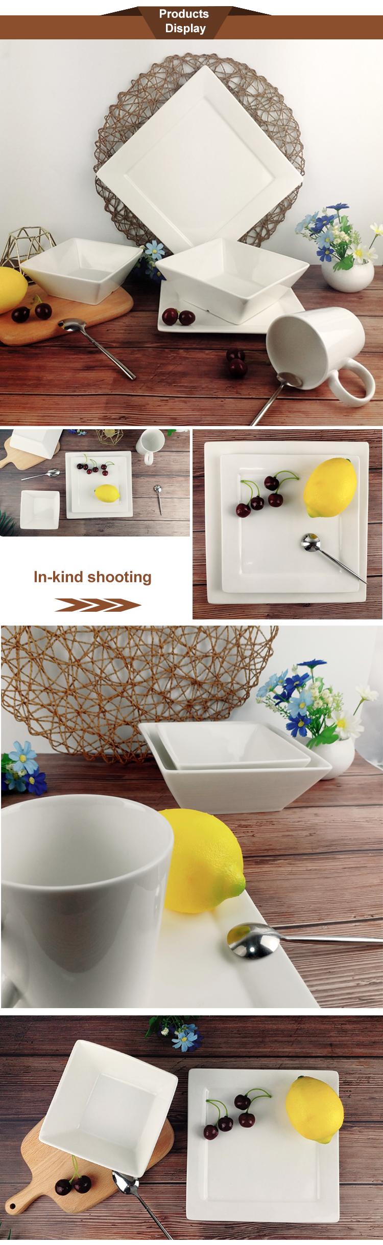 Neue design langlebig hotel hochzeit keramik flache ladegerät platte set
