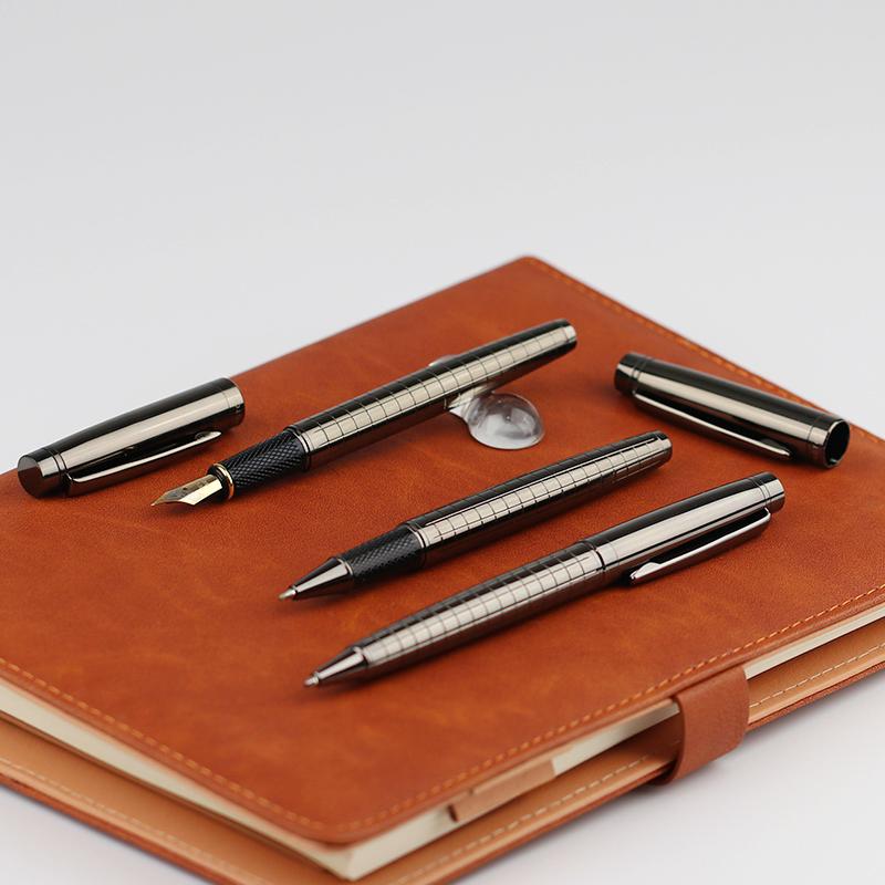 Stylo fontaine en métal de luxe avec logo personnalisé, livraison gratuite, stylo avec plume sculptée