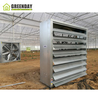 GREENDAY Climate control air conditioned agricultural plastic film greenhouse