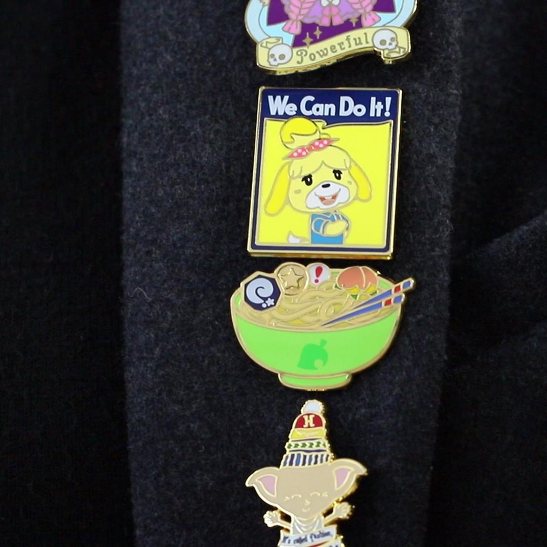Popular sales top quality Shuanghua gifts custom gold plated hard enamel cartoon lapel pins