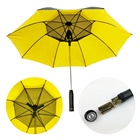 Cooling Fan Umbrella Wholesale Color Matching Uv Cooling Sun Umbrella Electric Fan Outdoor