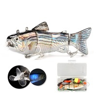 Ebay Best Sell W0808 USB Charge Robotic Fish Rechargeable Self Swimming Fishing Electric Lures Needed Multi Jointed Swim Bait