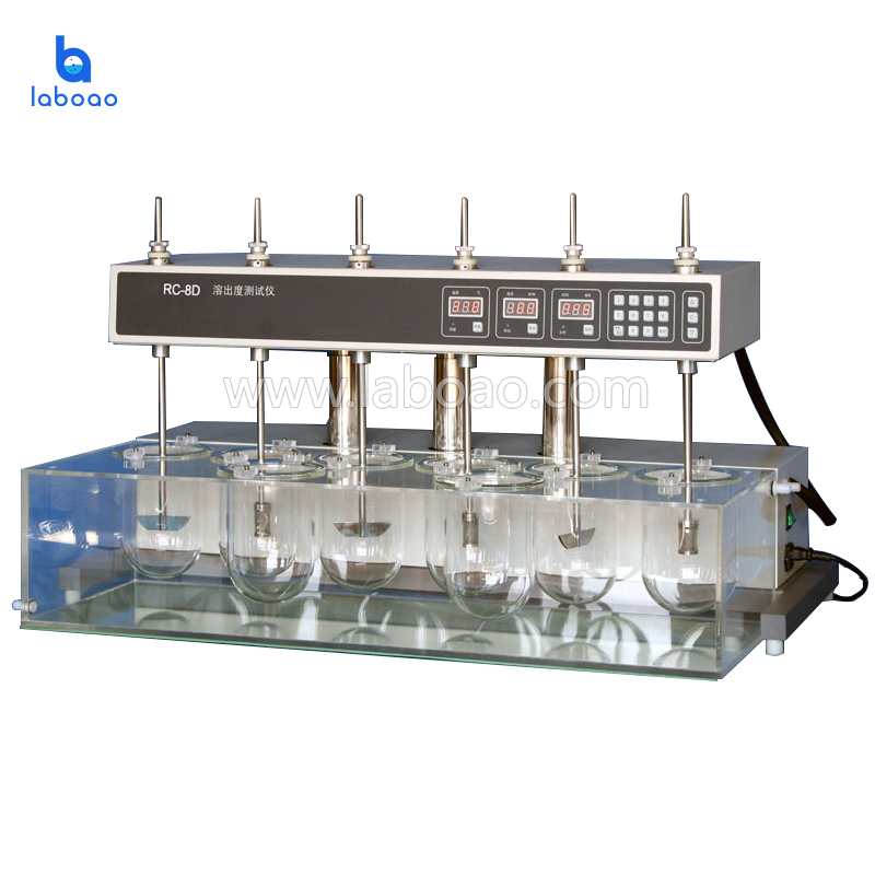 Dissolution tester eight cups six pole electric lift