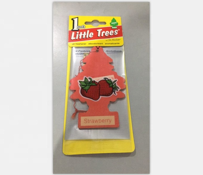 Strawberry Paper air freshener for car