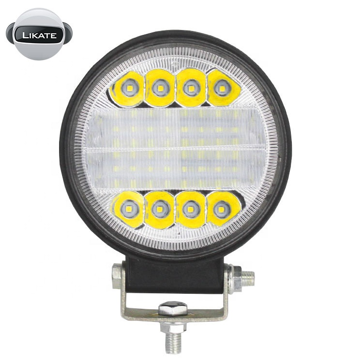 lkt 4 inch New LED angel eyes laser spots lights round for 72W trucks tractors Led auxiliary light work light offroad 4wd 12V 24