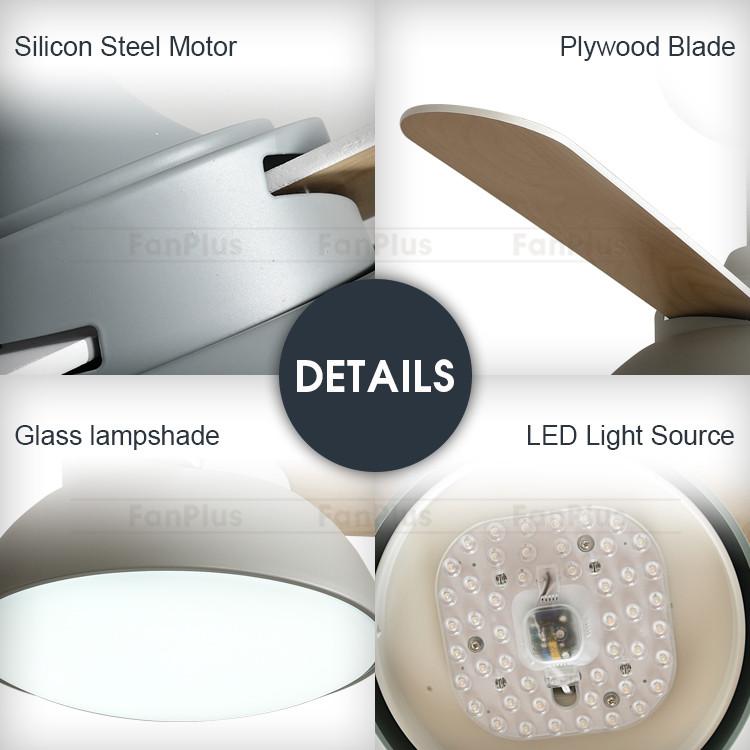 Professional Manufacturer Modern Dc Ceiling Fan With Light Chandelier