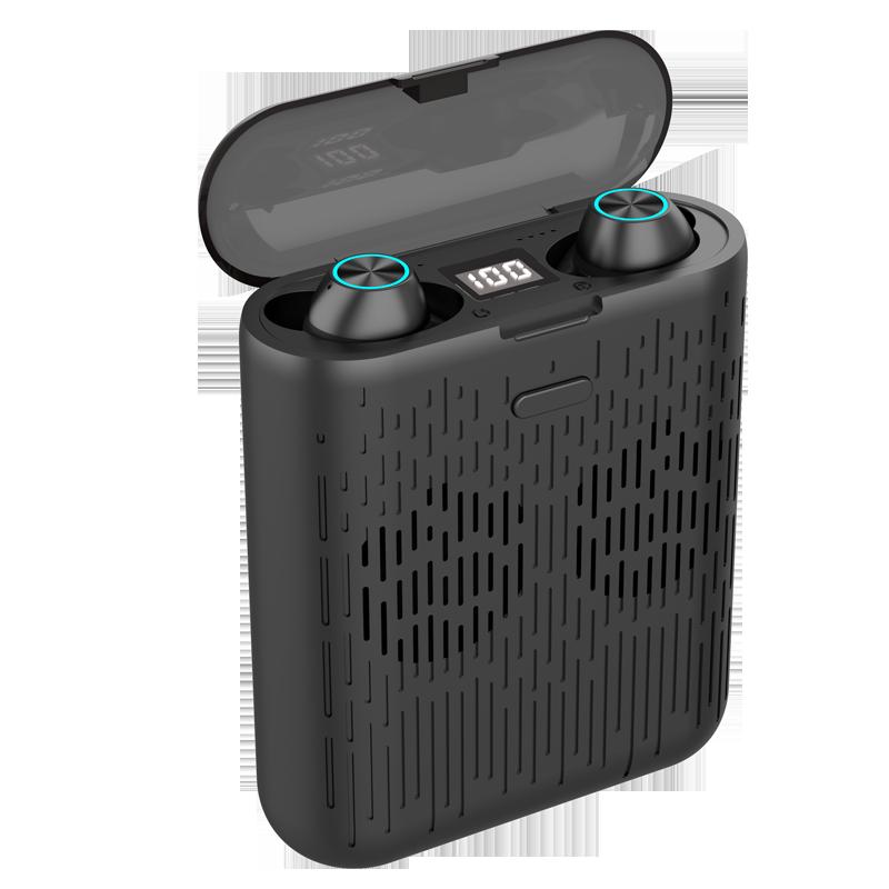 2400mAh Auriculares Para Celular Audifonos Con Bluetooth Ear Pods Wireless with Power Bank and Speaker Bafle Barra De Sonido