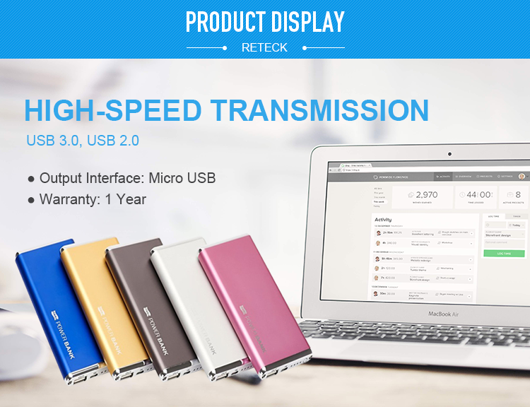 Power Bank 3000 mAh Portable Polymer Power bank Mobile Li-Polymer Charger Backup External Battery Charger For All Mobile Phone