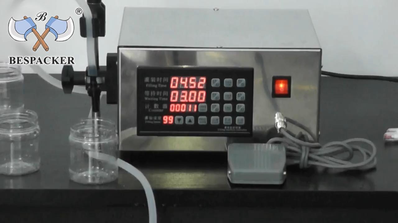Bespacker XK-280 Manual bottle water juice beverage milk liquid paste filling machine