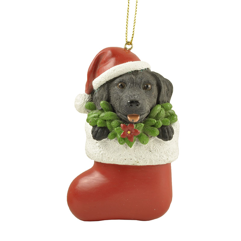 Handmade Rottweiler dog furniture pendant ornaments in Christmas stockings decorations