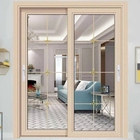 Interior Patio Golden Balcony Sliding Profile Aluminum Frame Door