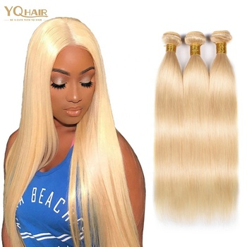 High quality virgin raw russian 613 blonde human hair weave bundles,european hair 613 blonde extension