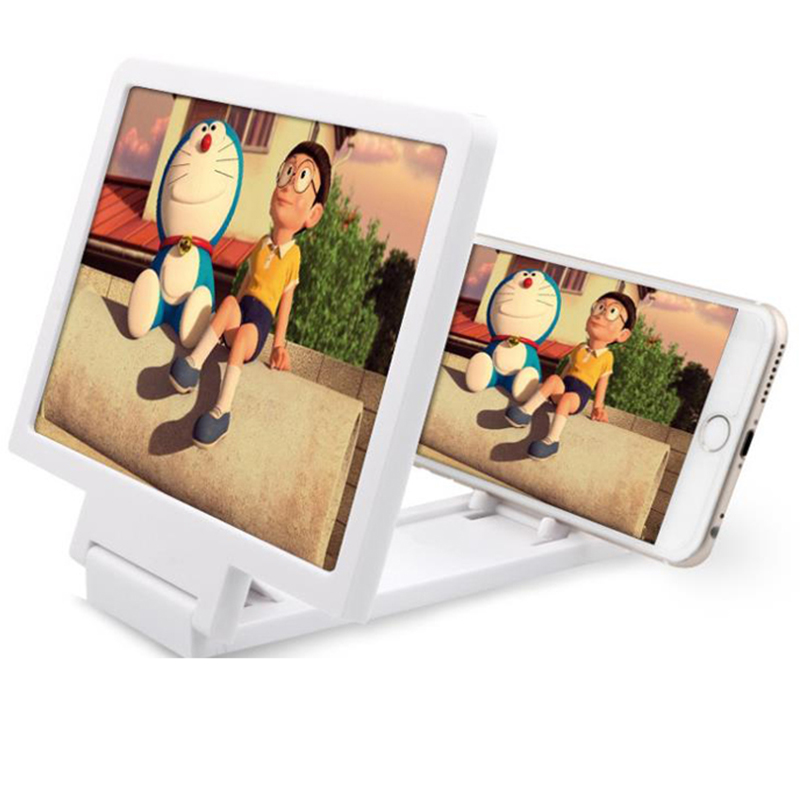"14"" Inch Phone 3D Screen Magnifier Smartphone Magnifying Glass Enlarged Amplifier Mobile Bracket Holder Enjoy Movie"