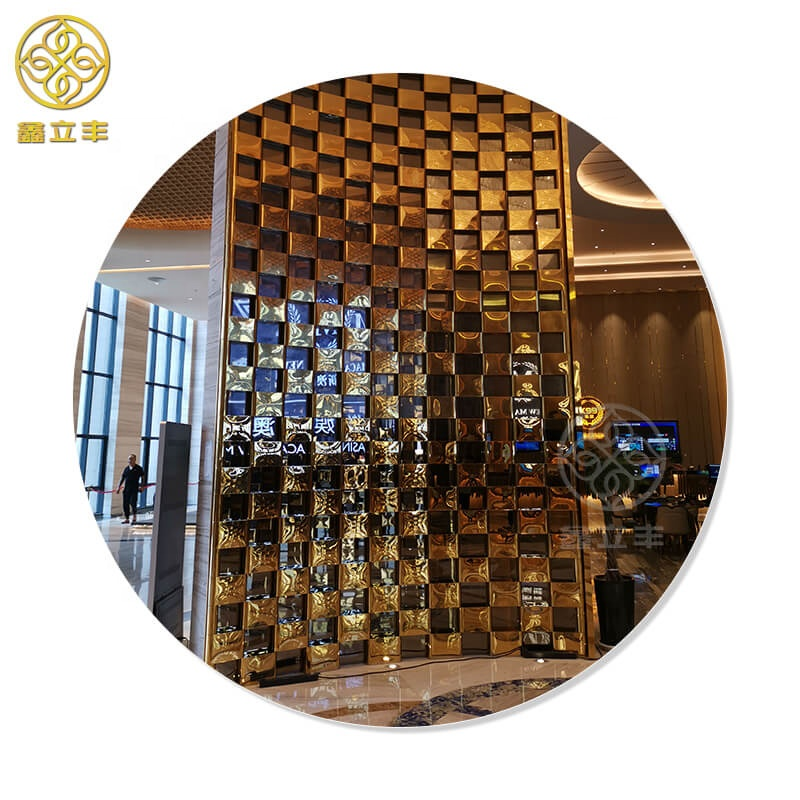 Xinlifeng Factory Stainless Steel Metal decorative room <strong>screens</strong> separators dividers partitions panels