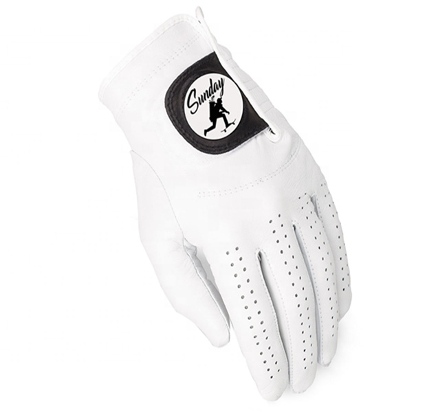 durable soft thin premium Full cabretta Leather golf gloves