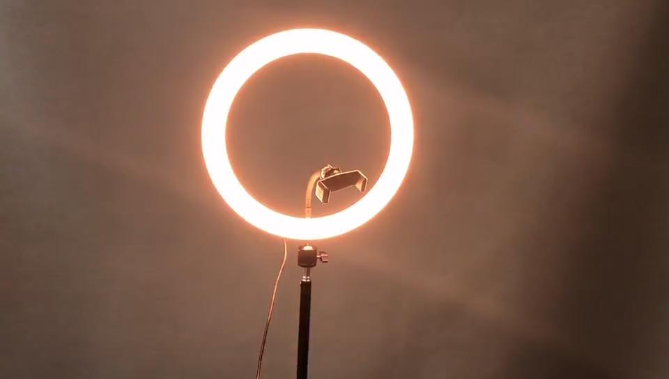 נייד נטענת Selfie טלפון מצלמה 10 אינץ led טבעת אור עם מעמד עבור til tok חכם טלפון