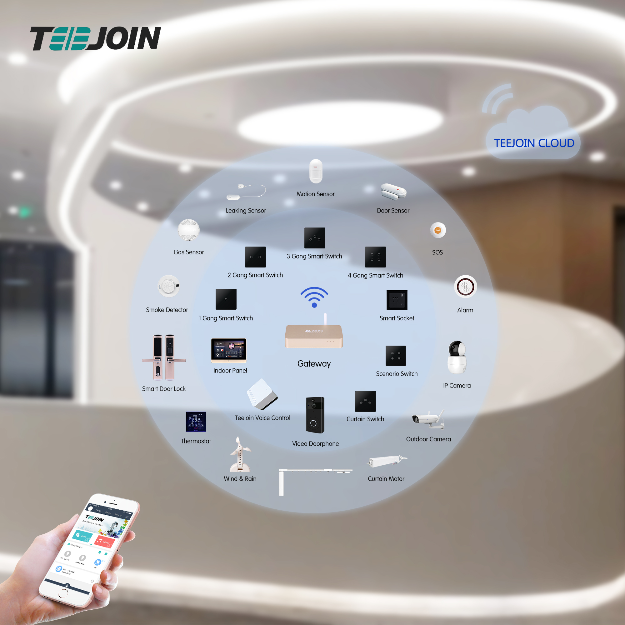 Teejoin Tuya Phone App Remote Smart Life Zigbee Wifi Usb Uk Inwall Smart Wall Socket with Switch