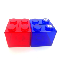Custom Brick Square Coin Bank Plastic Money Box For Promotion