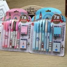 Набор перьевых ручек из 15 предметов, офисные и школьные принадлежности, стираемые Детские канцелярские принадлежности, подарок(Китай)