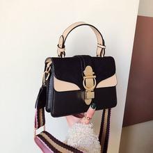 Новинка 2020, женские кожаные сумки, известный роскошный дизайн, контрастные цвета, модные сумки на плечо, женские сумки через плечо, Bolsas(Китай)
