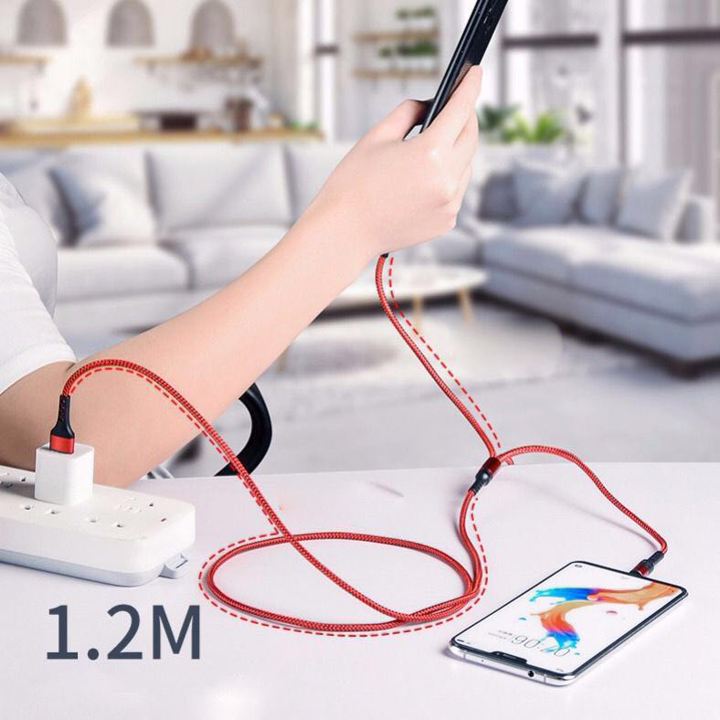 5A Fast Charger Charger Data Cable 3 in 1 Cable Mobile Charging Phone Wire Length 120CM