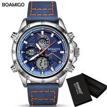 часы мужские часы мужские наручные мужские часы часы наручные мужские часы мужские брендовые BOAMIGO модные мужские часы для мужчин военный ци...(Китай)