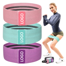 Home Fitness Pilates Yoga Stretching Oefening Brede Booty Bands, Benen Butts Hip Training Stof Resistance Bands <span class=keywords><strong>Set</strong></span>-
