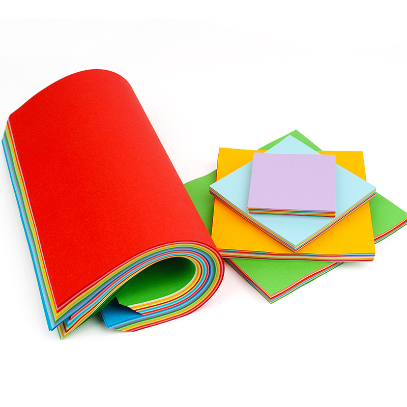 Square Color Colored Baking Portable Drawing Book Painting Gift handmade folding Origami Paper