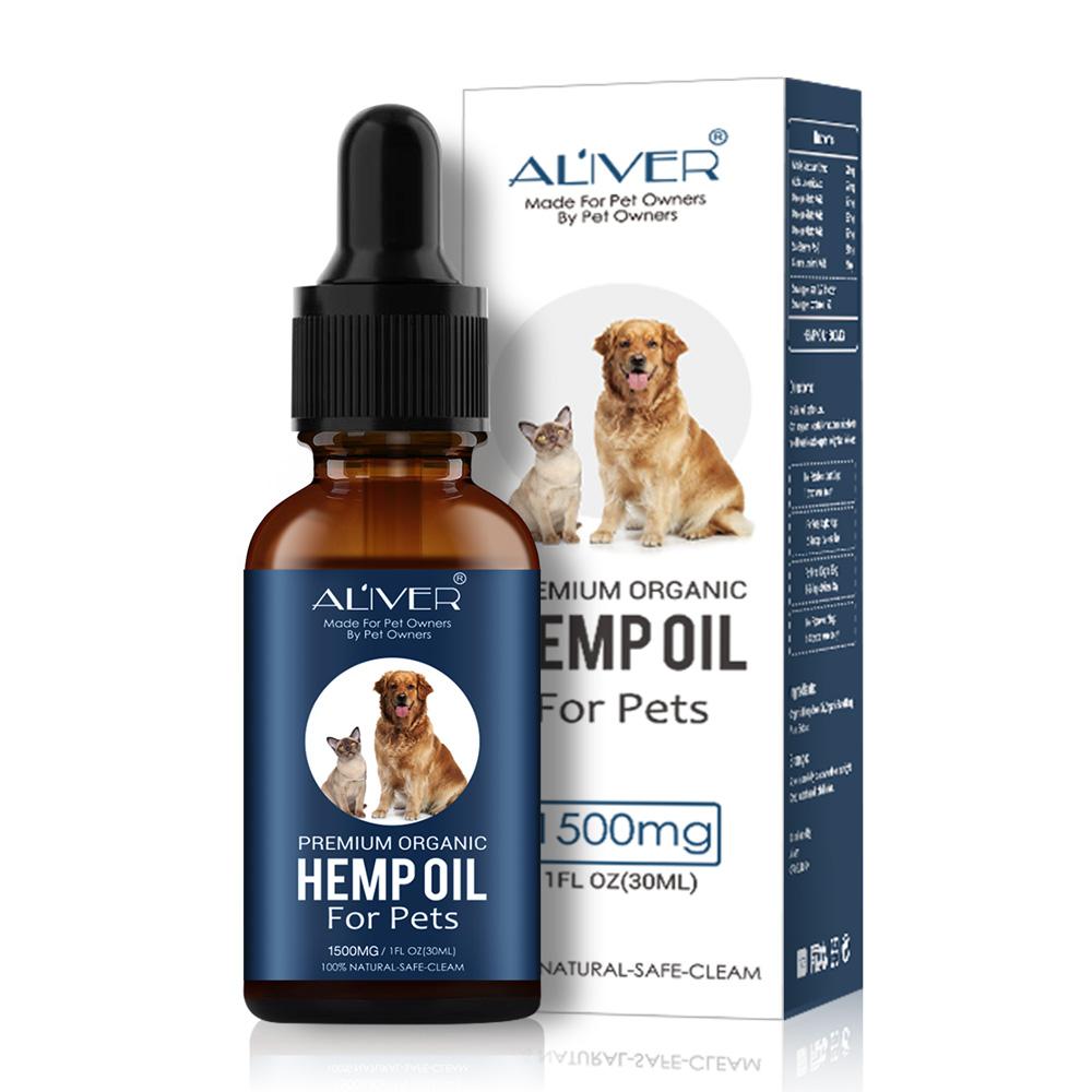 OEM Haustiere Hanf Samen Öl Für Pet Hunde und Katzen CBD Öl für Pet Angst Relief custom label 30ml