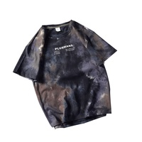 95%polyester 10%cotton Hip Hop Clothing Gradient Color Tie Dye T-shirts For Custom Eco Friendly Clothing Manufacturers