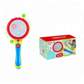 Wholesale Plastic Hand Shaking Drum Rattle Toy for Baby