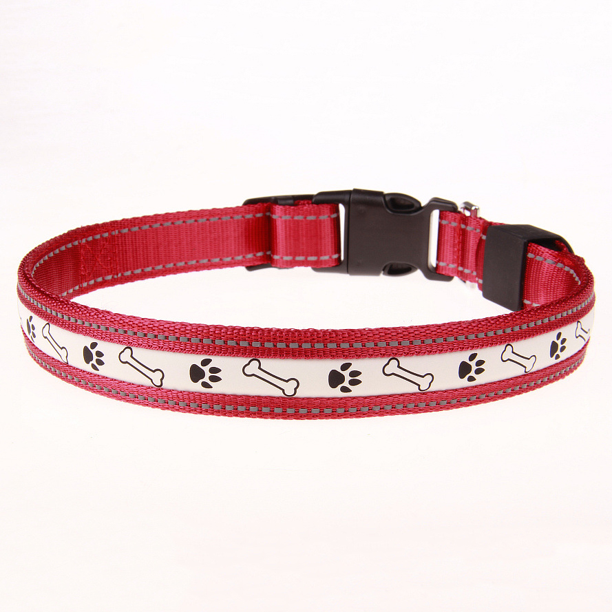 Nylon Dog Collar Clip Buckle Pet Collar for Small Medium Dogs Chihuahua Dog LED Glowing Collar