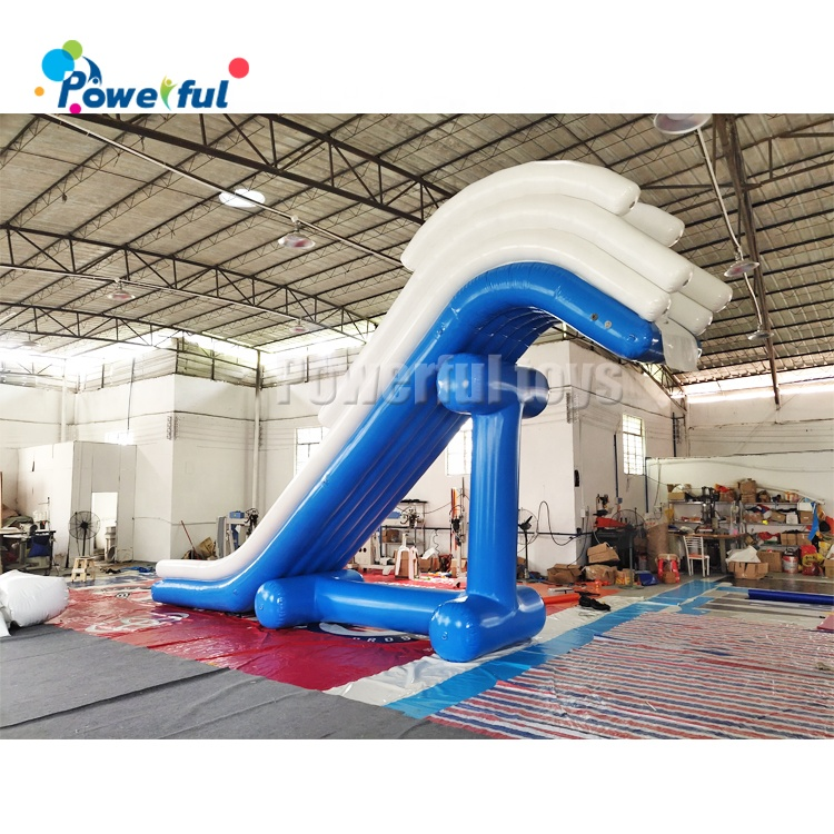 Factory price  inflatable water floating boat dock  yacht slide