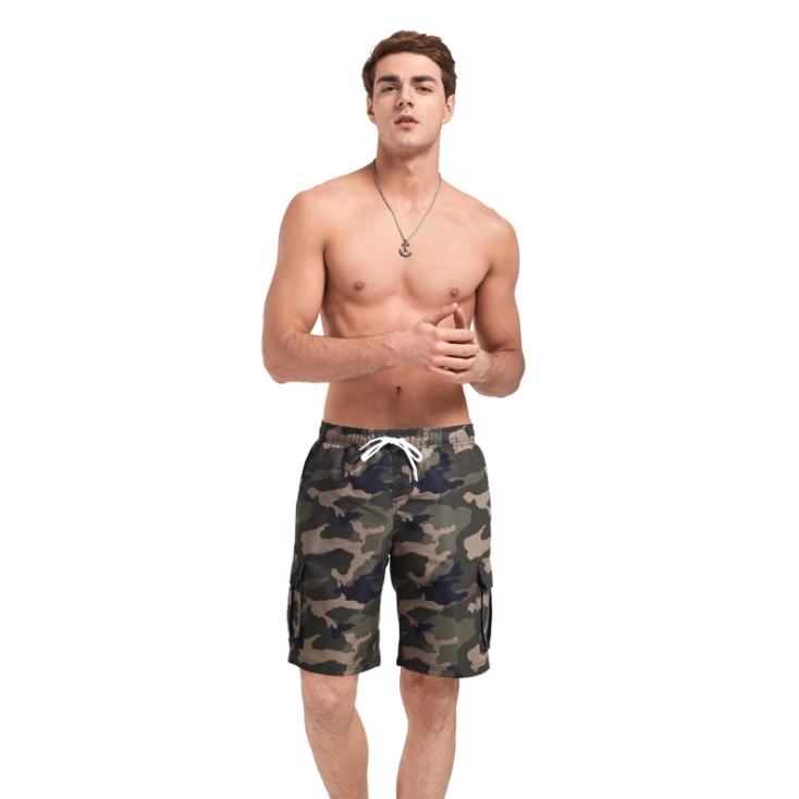 Summer Stylish Mens Swim <strong>Trunks</strong> Quick Dry Swim Shorts Elastic Waist Beach Board Shorts Bathing Suits