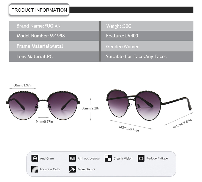 Fuqian wholesale fashion sunglasses ask online for lady-12