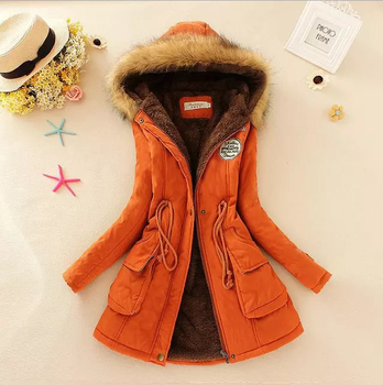 2019 new Winter Coat Women New Parka Casual Outwear Military Hooded Thickening Cotton Coat Winter Jacket Fur Coat Women Clothes
