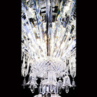 Large hotel foyer decorative chrome crystal chandelier iron pendant light